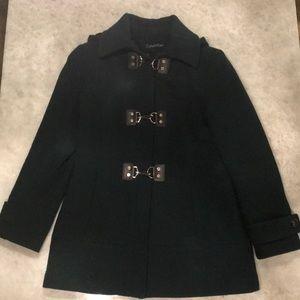 Calvin Klein Kelly Green Wool Blend Coat
